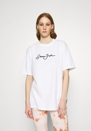 SJXMG CLASSIC OVERSIZED - T-shirt con stampa - white