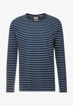 STRIPE - Bluzka z długim rękawem - navy