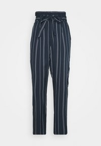 Vero Moda - VMEVA LOOSE PAPERBAG STRIPE PANT - Trousers - navy blazer/birch - 3