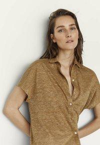 Massimo Dutti - Button-down blouse - brown - 1
