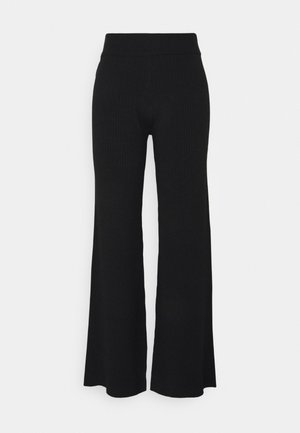 NA-KD X ZALANDO EXCLUSIVE RIBBED PANTS - Trousers - black