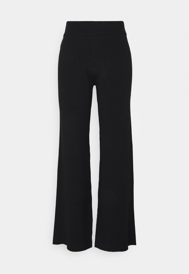 NA-KD - NA-KD X ZALANDO EXCLUSIVE RIBBED PANTS - Trousers - black