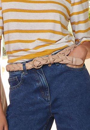 Braided belt - tan