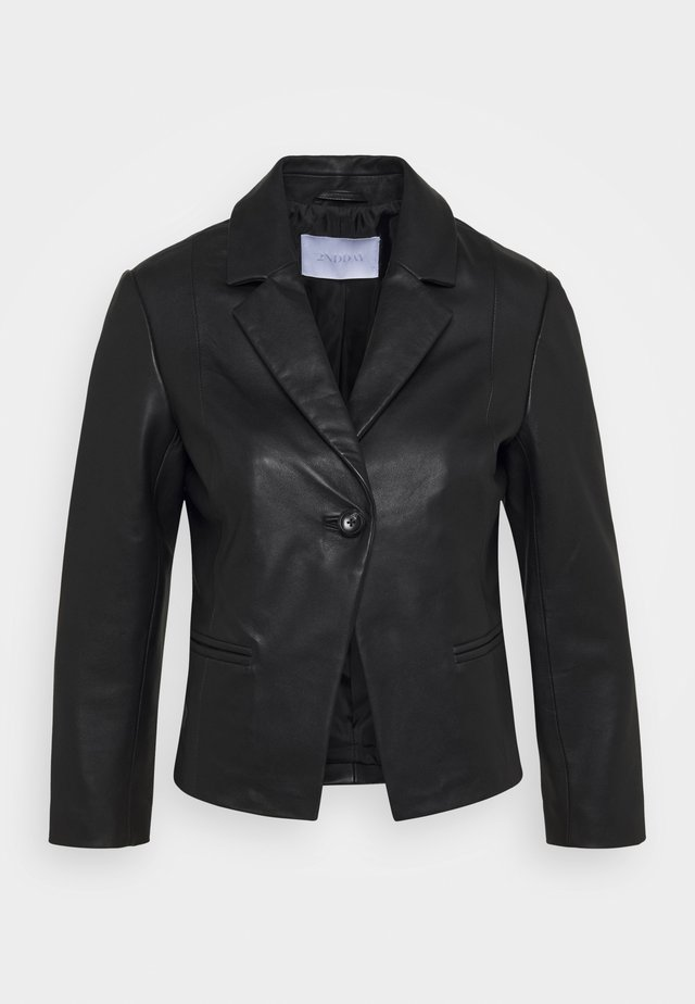 JAMES - Leather jacket - black