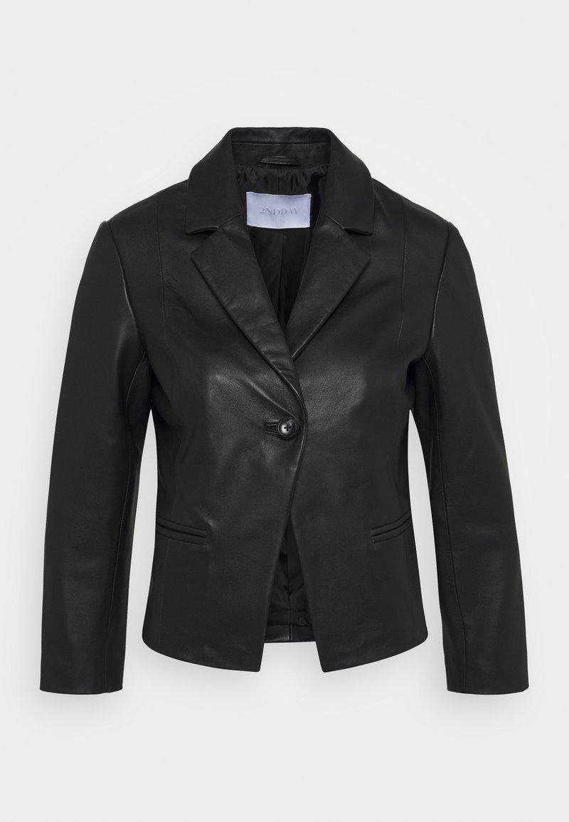 2nd Day - JAMES - Leather jacket - black