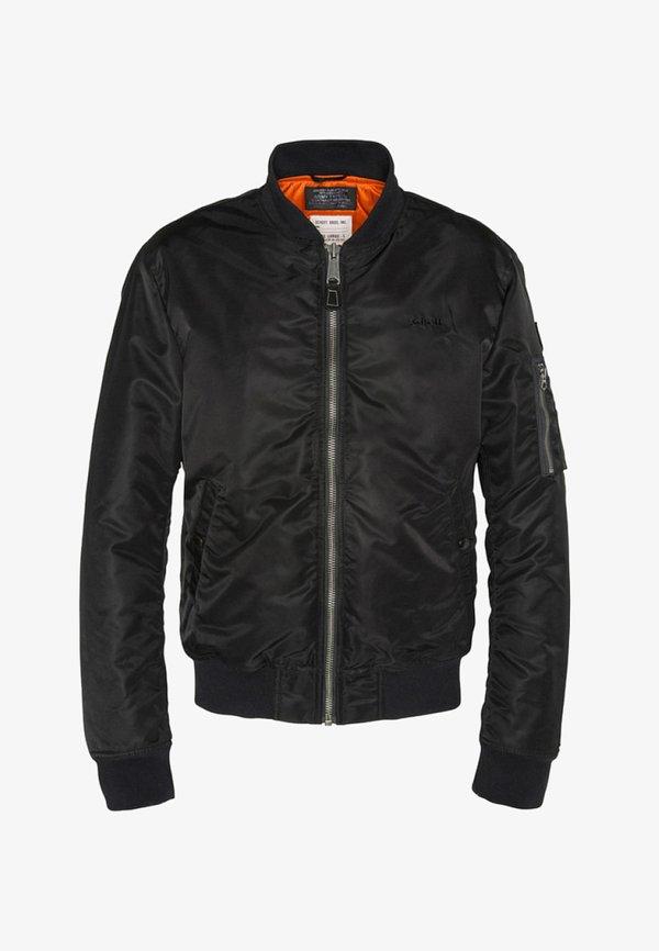 Schott Kurtka Bomber - black/czarny Odzież Męska RARU