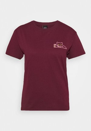 UP ALL NIGHT - T-shirt print - maroon