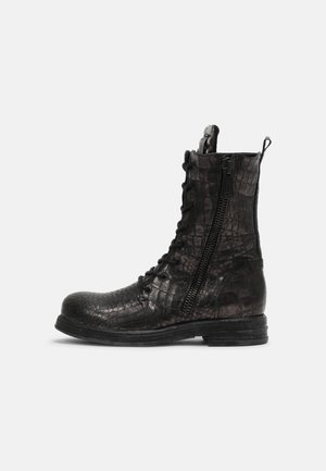 WINSTED - Lace-up ankle boots - dark silver
