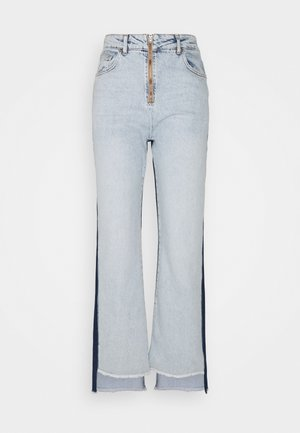STRAIGHT - Straight leg jeans - medium blue/dark blue