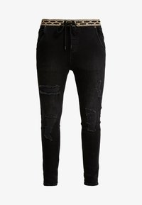 SIKSILK - ELASTICATED WAIST DISTRESSED - Jeans Skinny Fit - black - 3