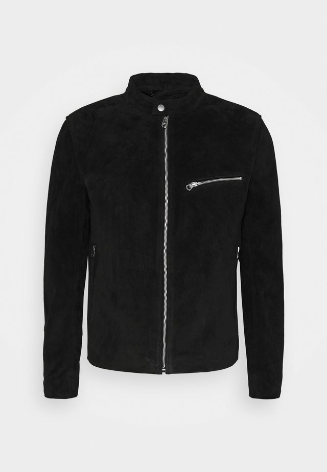 ICON CAFE RACER JACKET - Veste en cuir - black