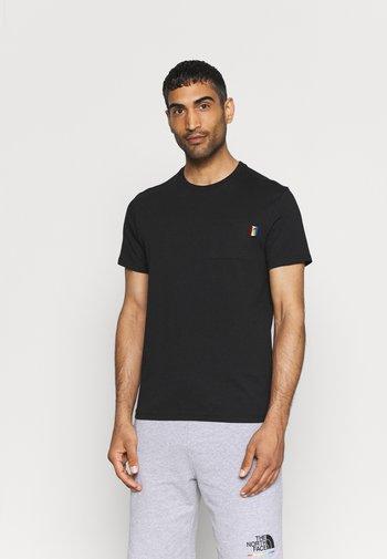 RAINBOW TEE - T-shirt med print - black