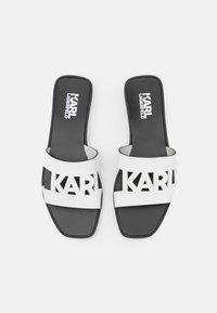 KARL LAGERFELD - SKOOT KUT OUT - Matalakantaiset pistokkaat - white - 4