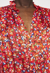 Pinko - NOMADE ABITO CLOQUE FIORELLINO - Day dress - red - 4