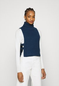 Who What Wear - TURTLENECK DICKIE - Jumper - navy - 0