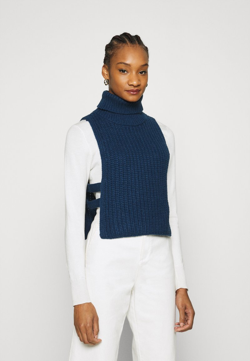 Who What Wear - TURTLENECK DICKIE - Jumper - navy