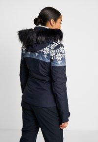 CMP - WOMAN JACKET FIX HOOD - Kurtka narciarska - black blue - 2
