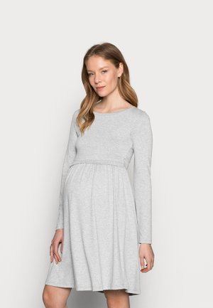 NURSING - Jersey Dress - Jersey dress - grey