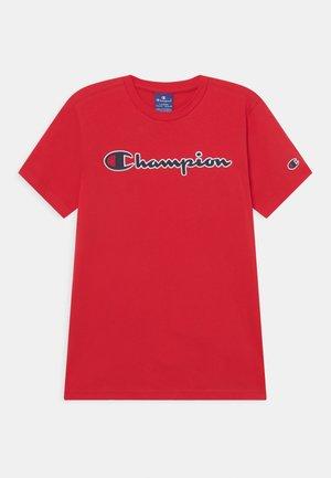 LOGO CREWNECK UNISEX - T-shirt imprimé - red