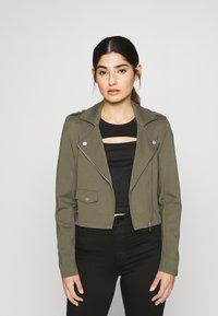 ONLY Petite - ONLPOPTRASH BIKER JACKET - Summer jacket - kalamata - 0