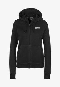 Puma - ESSENTIALS - Zip-up sweatshirt - cotton black - 0