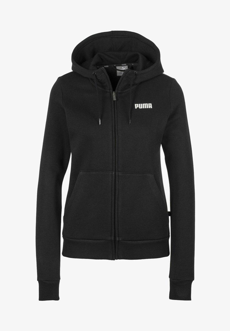 Puma - ESSENTIALS - Zip-up sweatshirt - cotton black