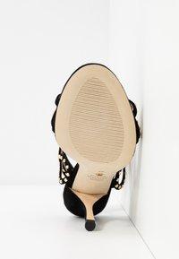 Stuart Weitzman - LEYA BEAD - High heeled sandals - black/gold - 6