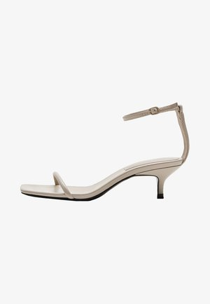 MIT STILETTOABSATZ - Sandals - beige