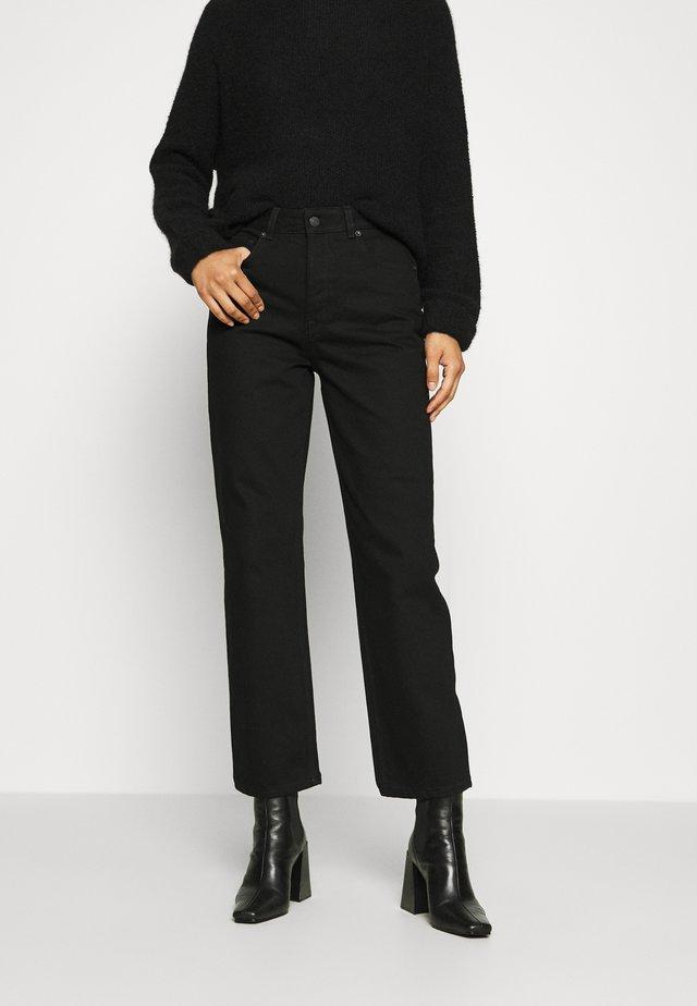 SLFKATE STRAIGHT  - Straight leg jeans - black denim
