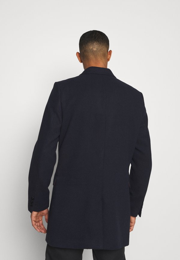 Burton Menswear London FAUX BUTTON - KrÓtki płaszcz - navy/granatowy Odzież Męska KJMB