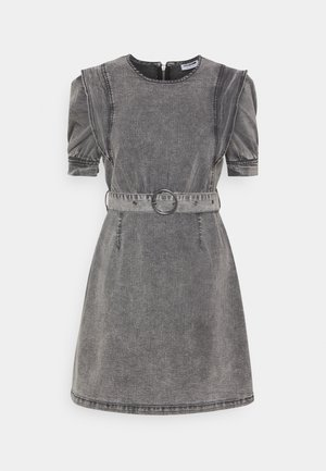 NMLISA PUFF SLEEVE DRESS  - Vestito di jeans - medium grey denim