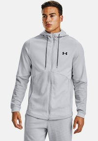 Under Armour - DOUBLE KNIT  - Hoodie met rits - halo gray - 0