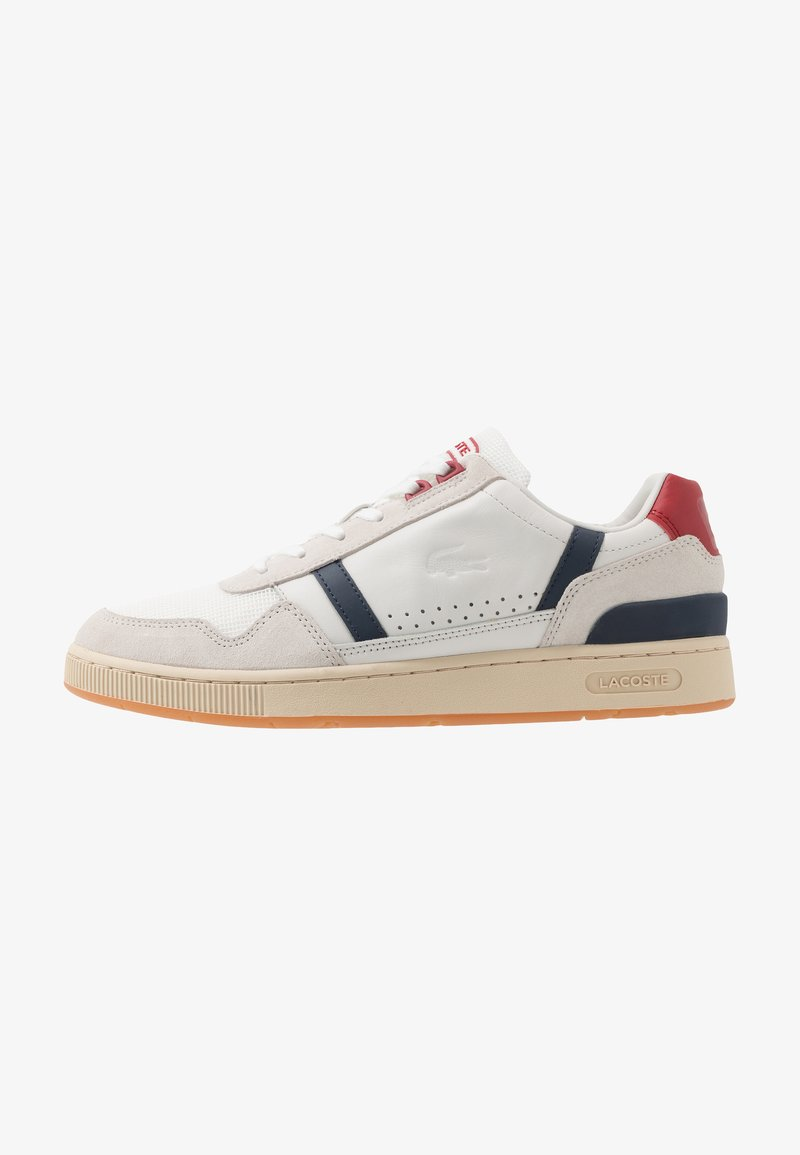 Lacoste - T-CLIP - Trainers - offwhite/navy/red