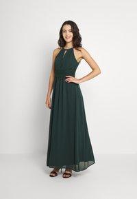 Vila - VIMILINA HALTERNECK MAXI DRESS - Occasion wear - darkest spruce - 1
