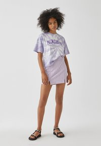 PULL&BEAR - Print T-shirt - purple - 1
