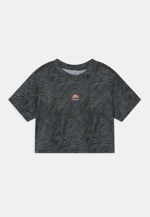 ASALI CROPPED UNISEX - Print T-shirt - olive/dark grey