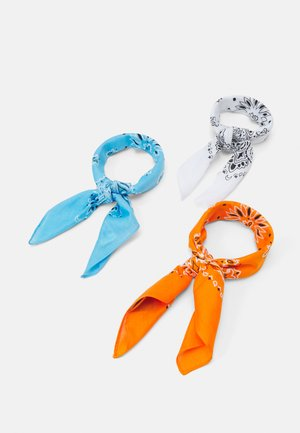 BANDANA 3 PACK UNISEX - Scarf - orange/lightblue/white