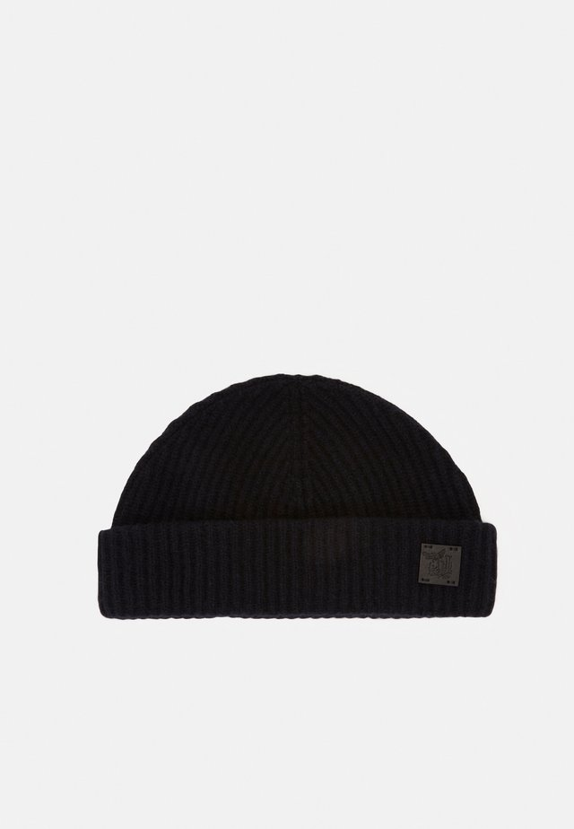 CASHMERE SHORT BEANIE - Berretto - dark navy