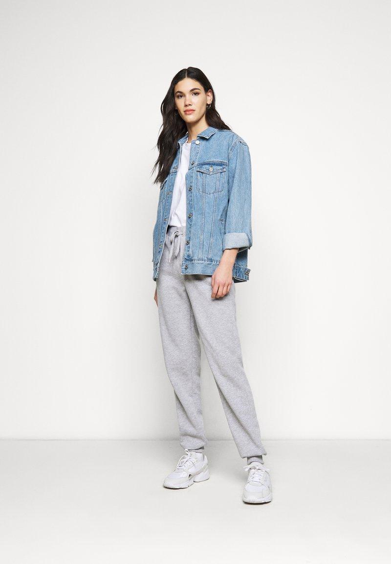 Missguided Tall - SHOULDER OVERSIZED 2 PACK  - Basic T-shirt - blue/white