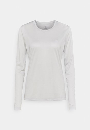 AGILE TEE - T-shirt sportiva - white/oyster mushroom heather