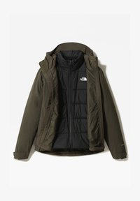 The North Face - W MOUNTAIN LIGHT FL TRICLIMATE JACKET - Kurtka do biegania - new taupe green/tnf black - 0