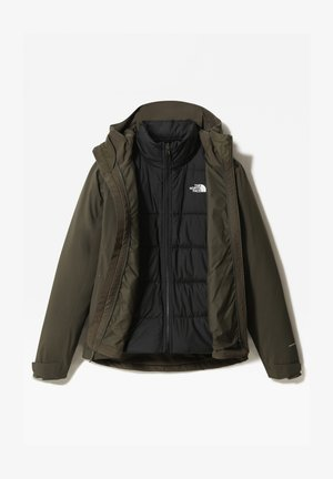 W MOUNTAIN LIGHT FL TRICLIMATE JACKET - Giacca da corsa - new taupe green/tnf black