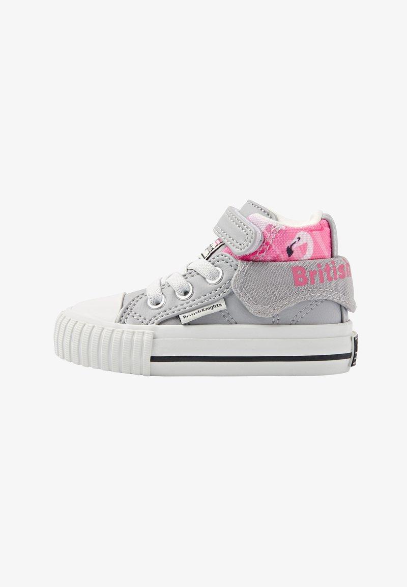British Knights - ROCO - Baby shoes - lt grey/flamingo