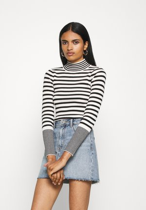 STRIPEY - Pullover - black/white