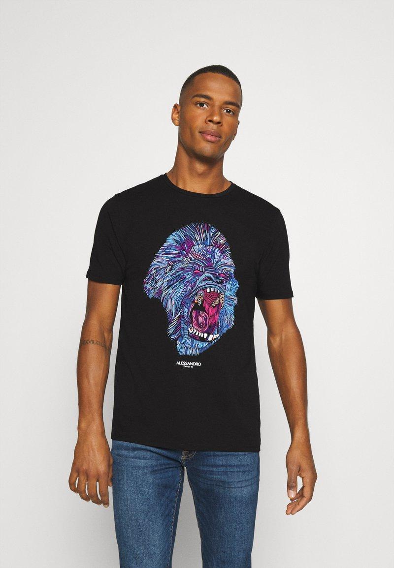 Alessandro Zavetti - RAGING APE - Print T-shirt - black