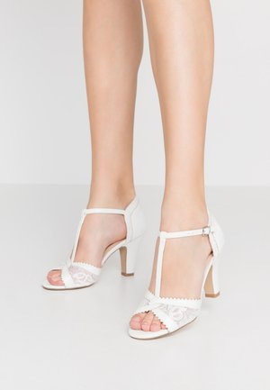 QUEEN - High heeled sandals - white
