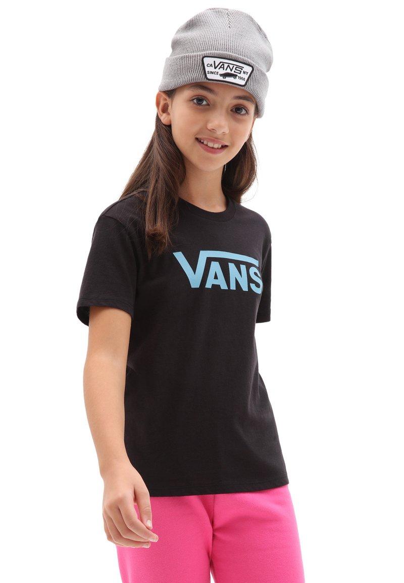 Vans - GR FLYING V CREW GIRLS - Print T-shirt - delphinium blue/black