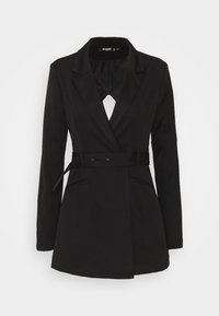Missguided Tall - COORD TAILORED OPEN BACK BELTED BLAZER - Blazer - black - 0