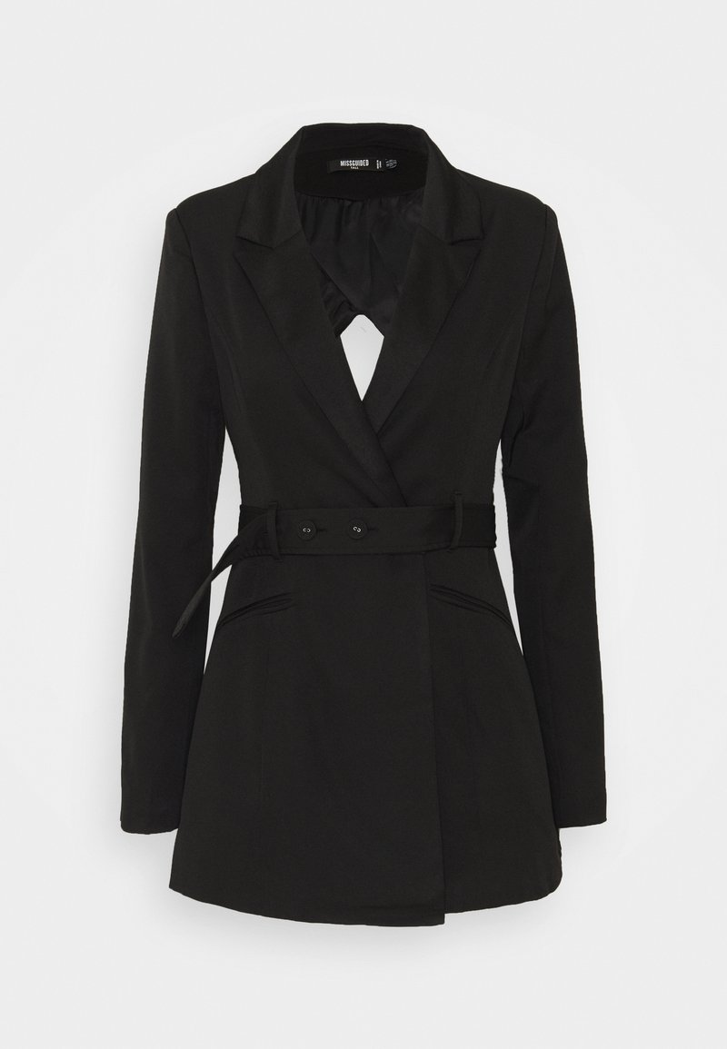 Missguided Tall - COORD TAILORED OPEN BACK BELTED BLAZER - Blazer - black