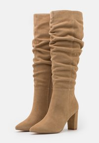 Anna Field - LEATHER - High heeled boots - beige - 2